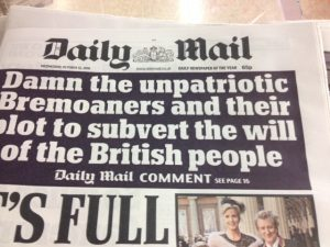 Today's Daily Mail Comment